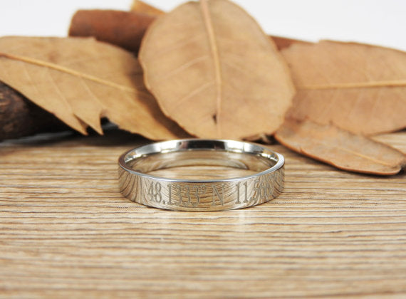 Handmade Flat Plain Polish Promise Ring, Bridal Ring, Female Ring, Wedding Band, Women Ring, Couple Ring, Titanium Ring, Anniversary Ring