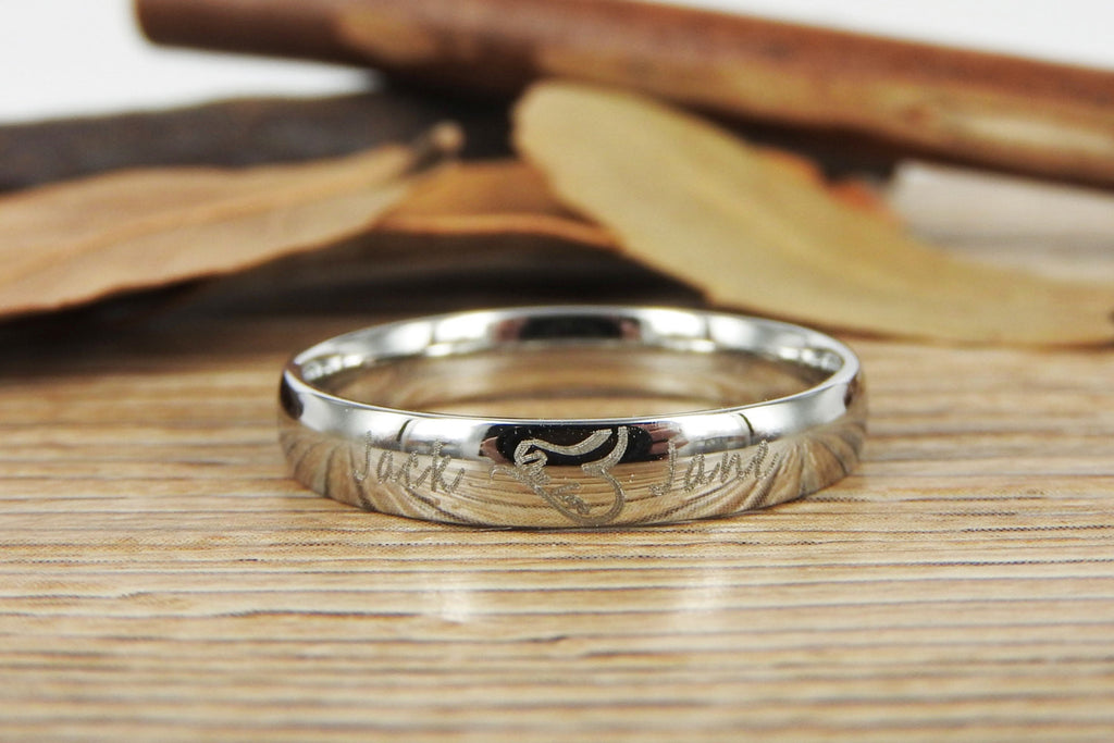 handmade two heart become one heart matching wedding rings his and her promise ring - Ring Wedding