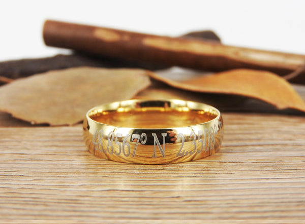 Latitude Longitude Ring, Coordinate Ring, Longitude Latitude, Personalized Ring, Personalized Jewelry,ring coordinates