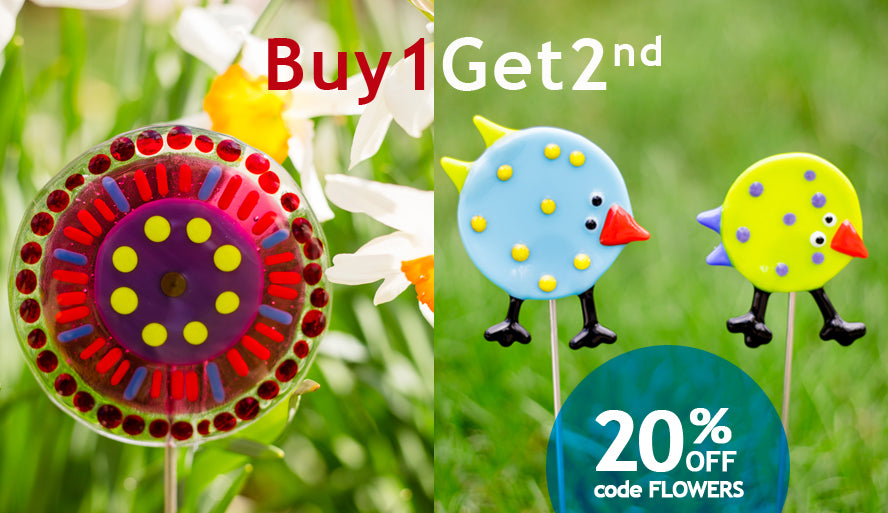 Buy 1 Get 2nd 20% off. Use code: FLOWERS