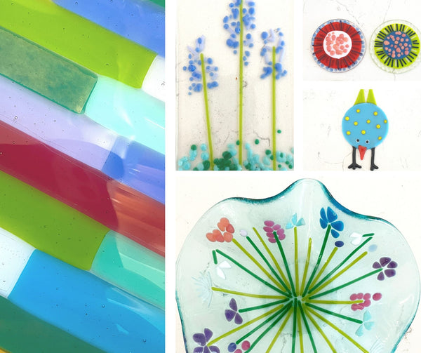 fused glass home decor and garden