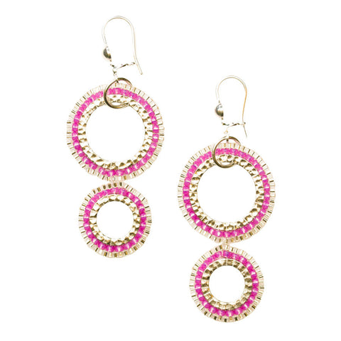 Gota Rose Drop Earrings