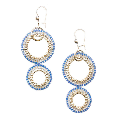 Gota Blue Drop Earrings