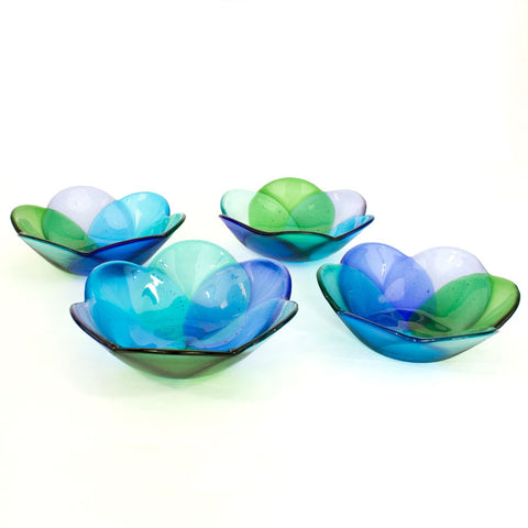Water Petal Bowls- Set of 4