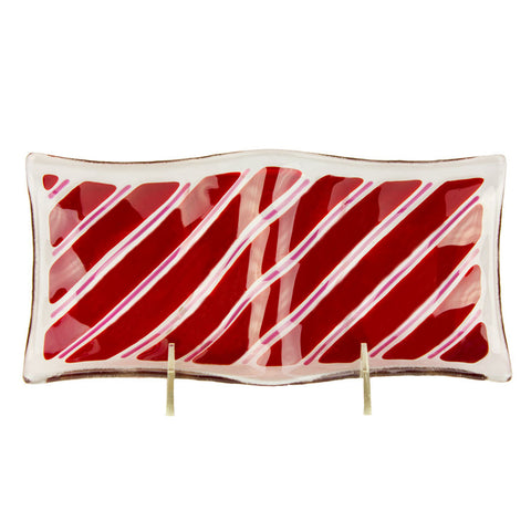 Candy Cane Double Dish