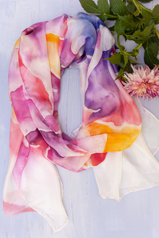 Starling Painted Scarf
