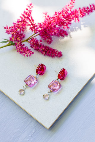 Bela Pink Drop Earrings