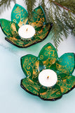 Emerald Flora Candle Holder