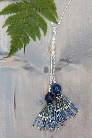 Lapis Chain and Tassel