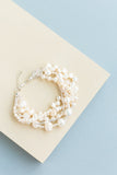 Bliss Chunky Wedding bracelet handmade from beads and swarovski pearls that are custom and made to order bridal accessory in shades of white and cream