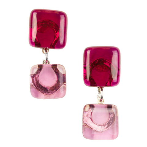Geisha Ruby Drop Earrings