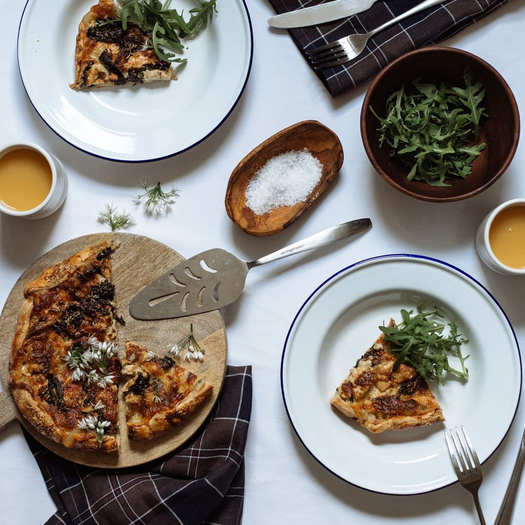 SEASONAL EATS | Chicken, Wild Garlic & Three Cheese Galette