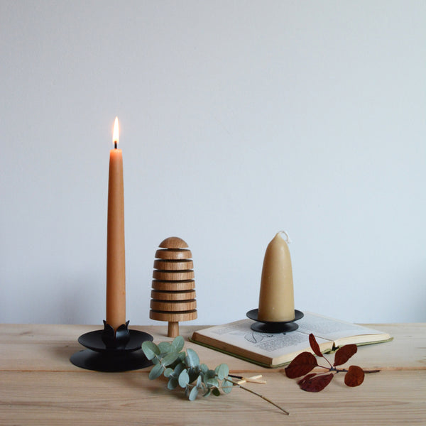 English Beeswax Dinner Candles