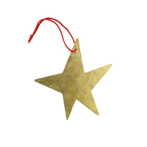 Brass Christmas Ornament Star