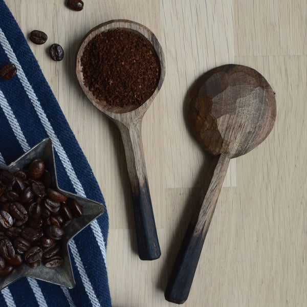 Hand Carved Coffee Scoop Walnut