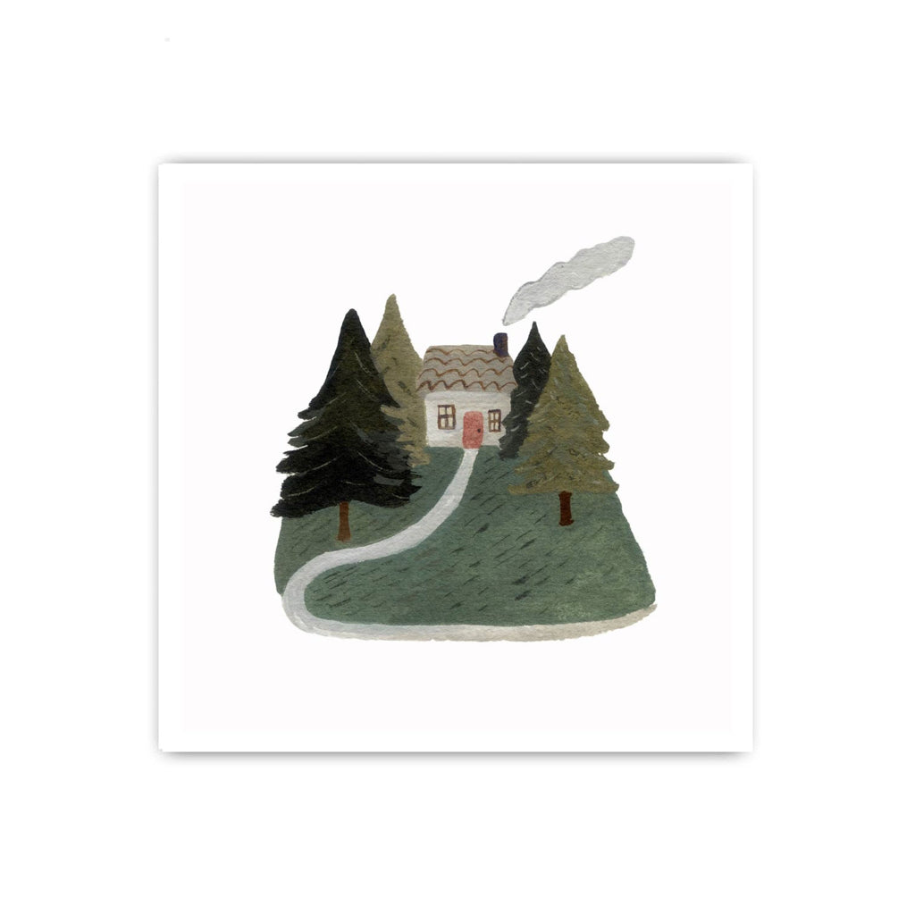 A Home In The Woods Print
