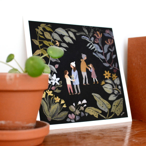 Among the Flowers Print