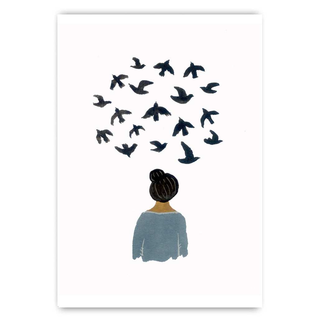 Bird Thoughts Print