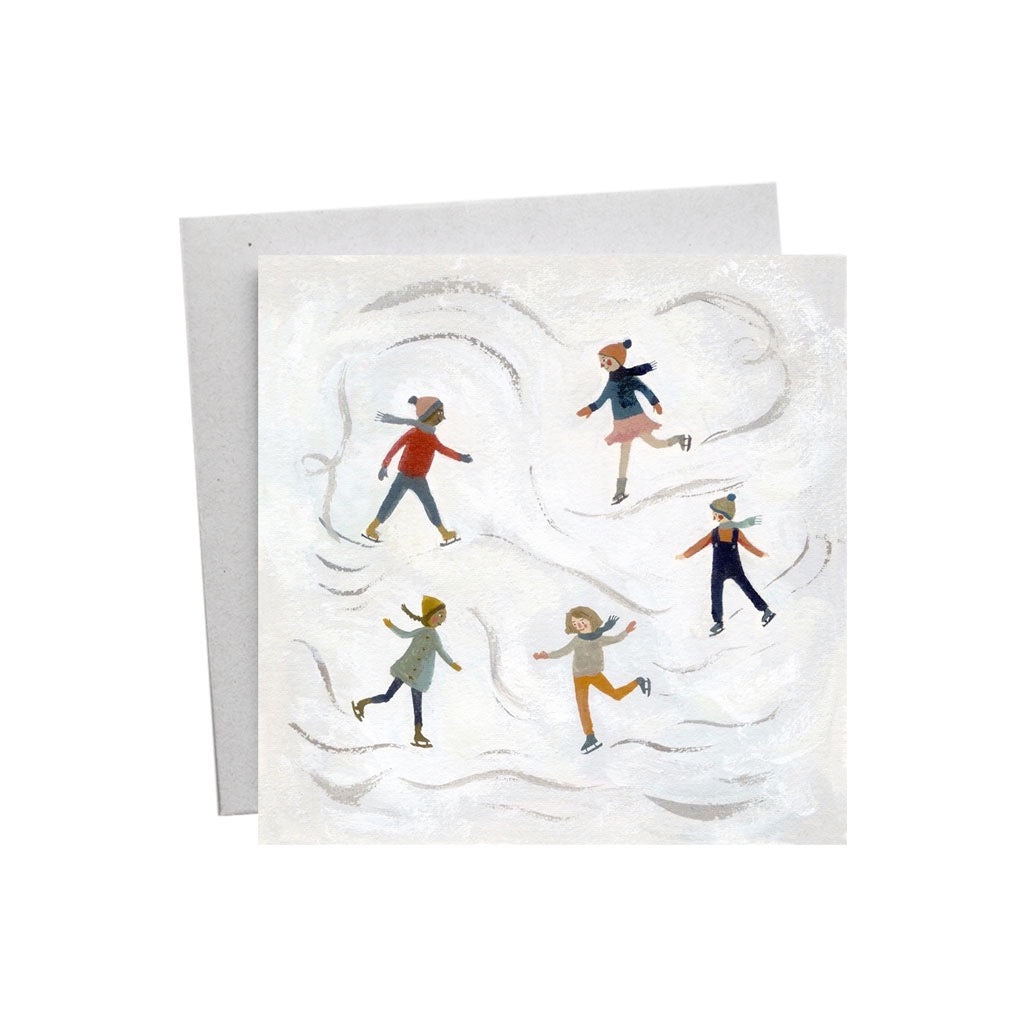 Ice Skating Christmas Card