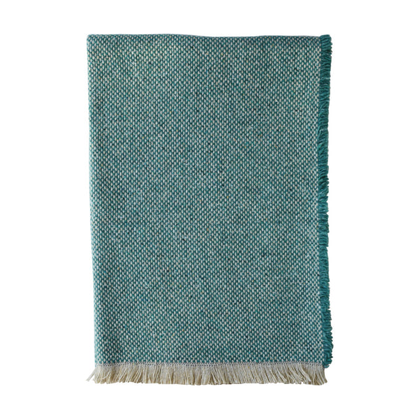 British Recycled Crosshatch Throw Jade
