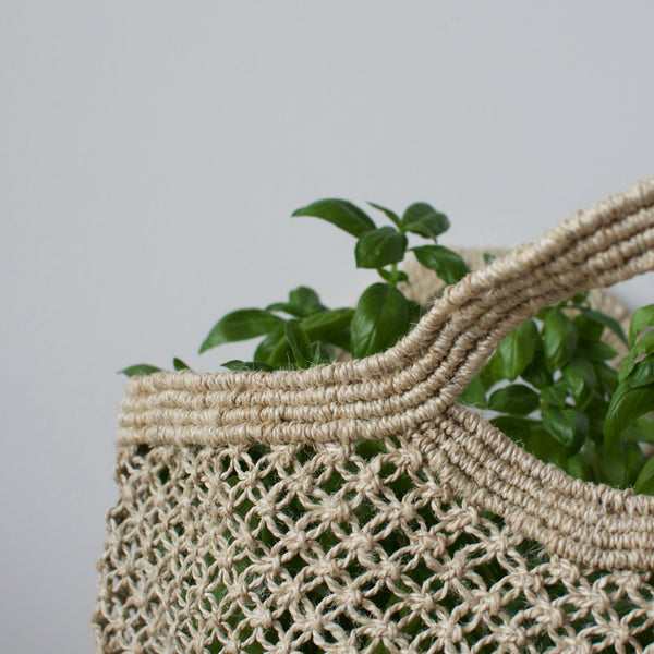 Jute Macrame Market Bag Natural