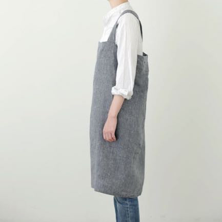 Pure Linen Cross Over Apron