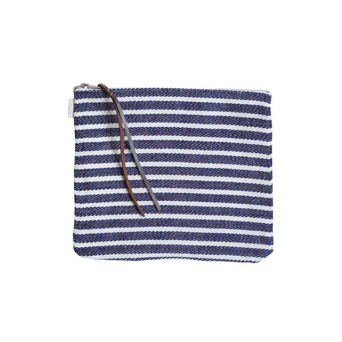 Linen Pouch Large Stripe