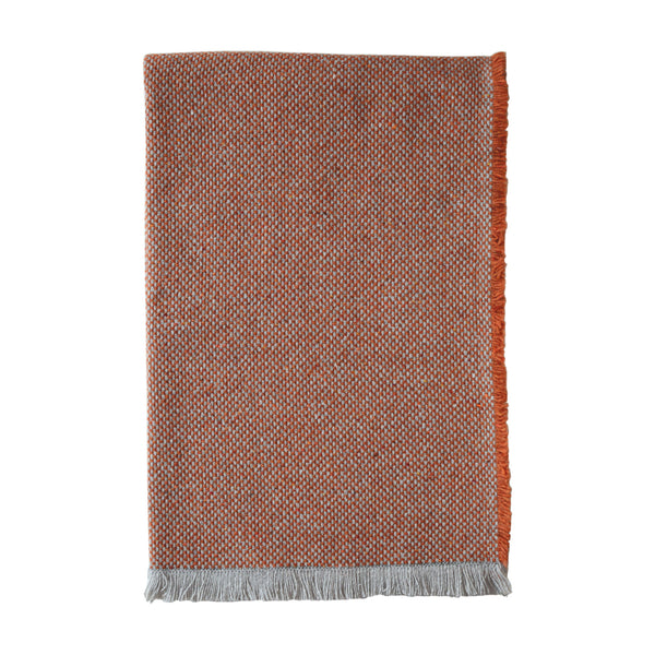 British Recycled Crosshatch Throw Rust
