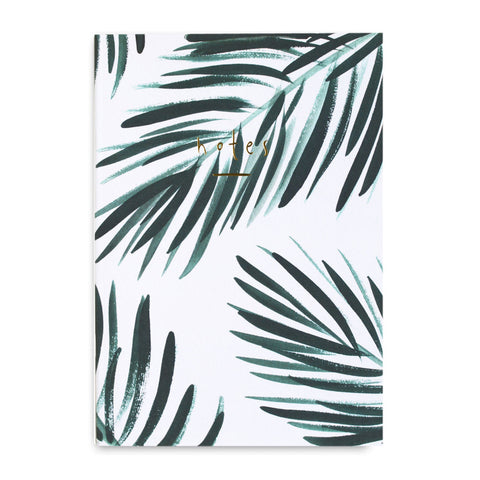 Gold Leaf Notebook Palm