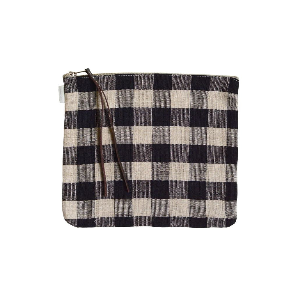 Linen Pouch Large Check