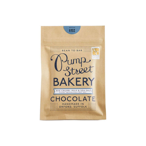 Pump Street Bakery Chocolate - Rye Crumb, Milk and Sea Salt 60%