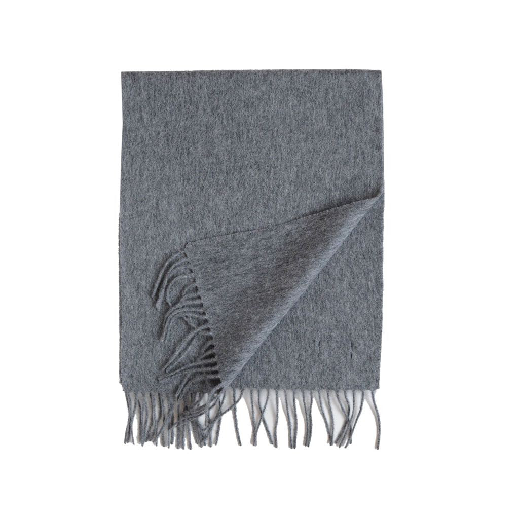 British Lambswool Scarf Grey