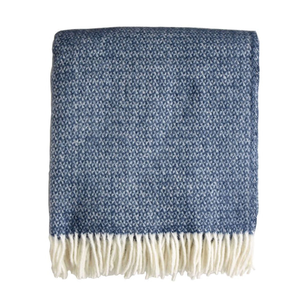 British Pure Wool Blanket Blue Slate