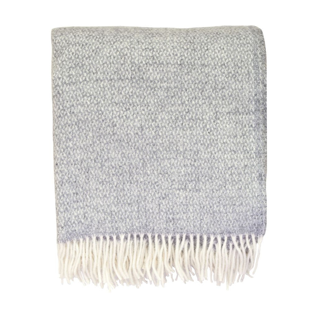 British Pure Wool Blanket Grey