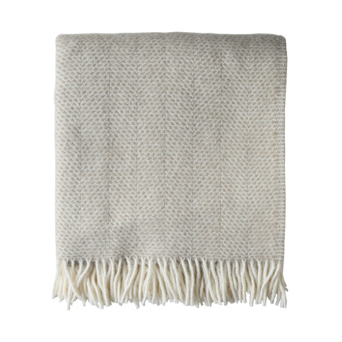 British Pure Wool Blanket Oatmeal