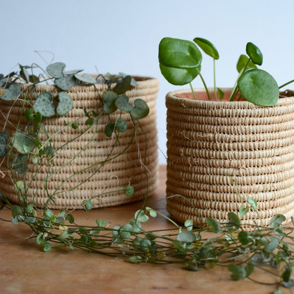 Raffia Storage Pot Natural