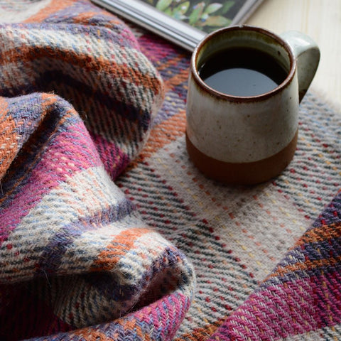 Winter Warmers Collection - Recycled Wool Throw and Chocolate Bar