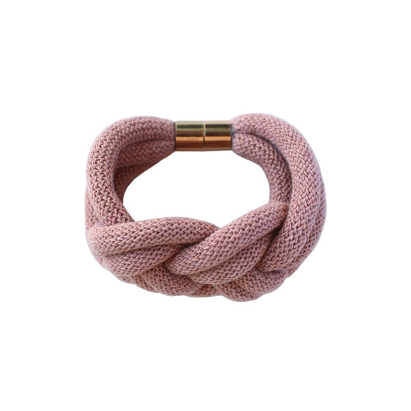 Knotted Rope Bracelet Blush