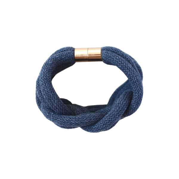 Knotted Rope Bracelet Denim