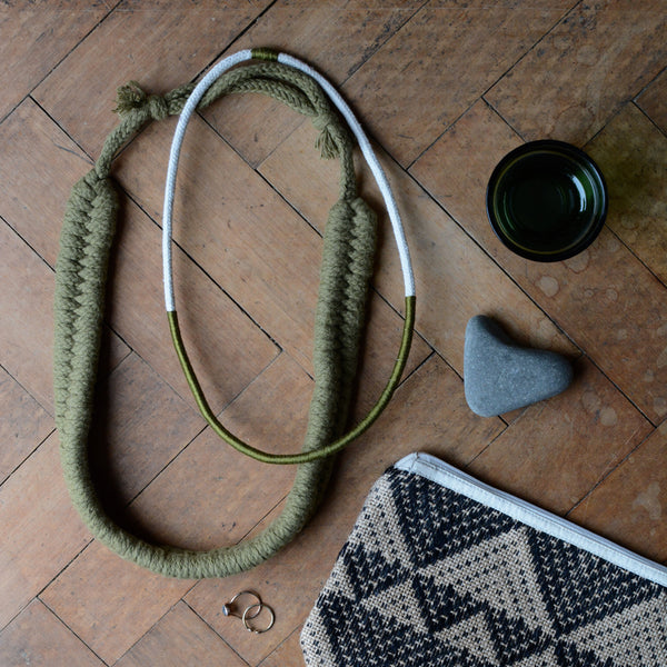 Rope Necklace Olive