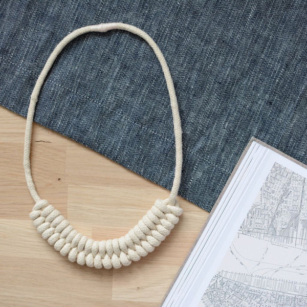 Knotted Rope Necklace Natural
