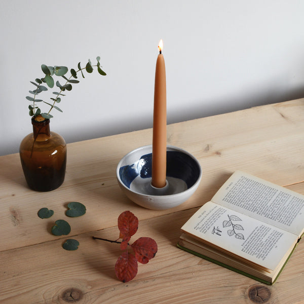 Stoneware Dinner Candle Holder