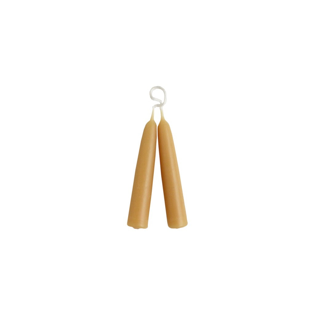 English Beeswax Short Taper Candles