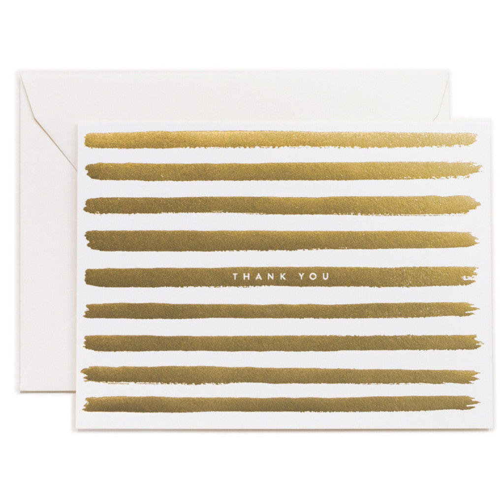 Set of Gold Thank You Cards