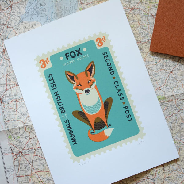 Fox Stamp Screen Print