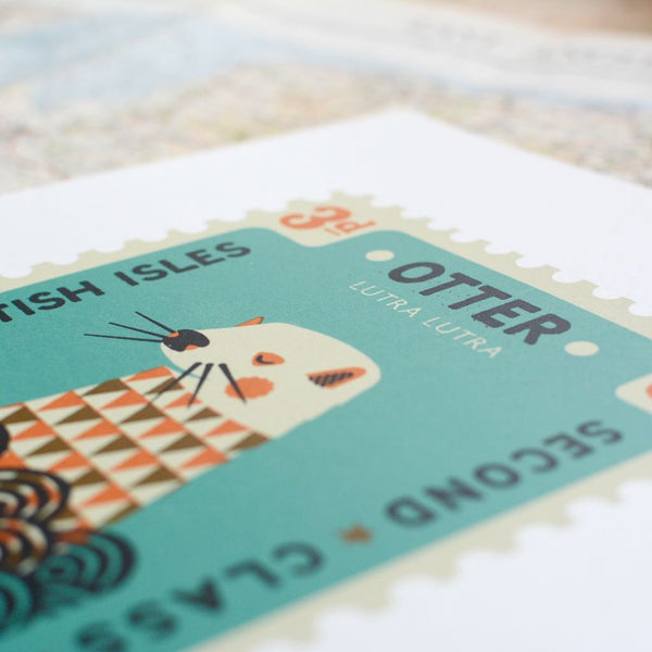 Otter Stamp Screen Print