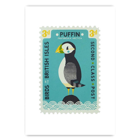 Puffin Stamp Screen Print