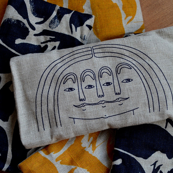 Wheat Eye Pillow Navy