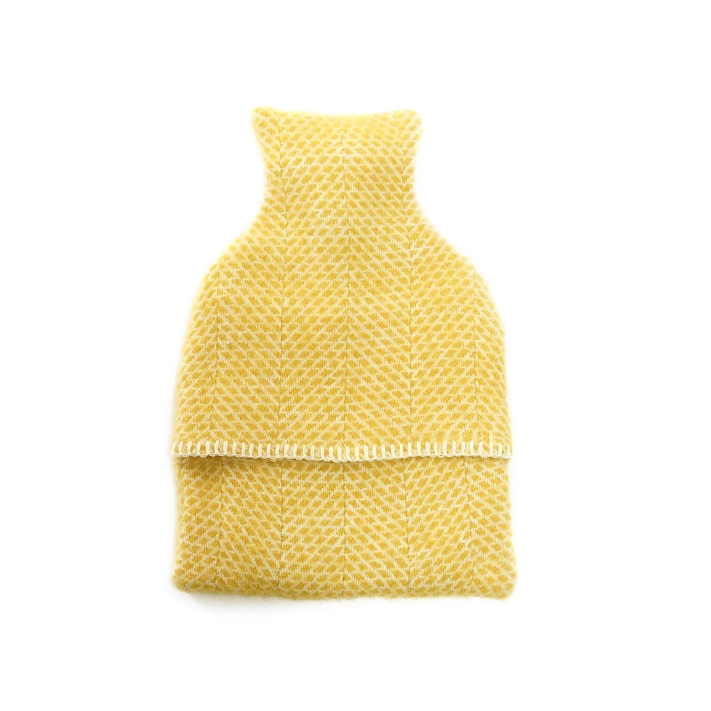Hot Water Bottle Yellow Wool