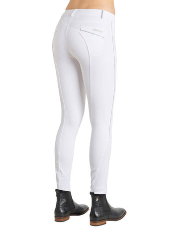Montar Aria White Full Grip Seat Sparkly Breeches